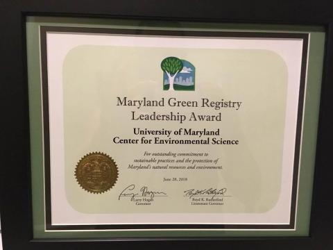 Maryland Green Registry Award