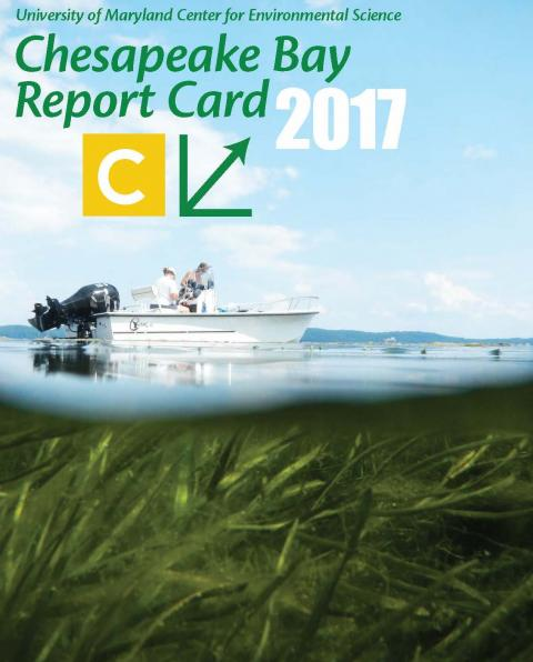 Cover of the 2017 Chesapeake Bay report card