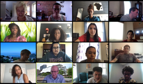 Zoom Screenshot of IMET 2020  summer interns