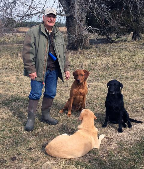 Jerry Harris and his dogs