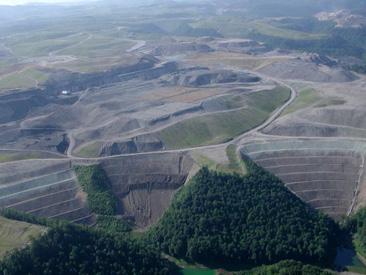 West Virginia's Hobet 21 mountaintop mine.