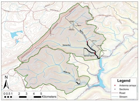Map of the two study watersheds.