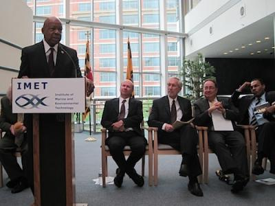 """Stop acting like we're bulletproof"" urged Congressman Elijah Cummings at the kick off of a two-day conference on the Chesapeake Bay and human health at the Institute for Marine and Environmental Science at Baltimore's Inner Harbor, May 14-15."