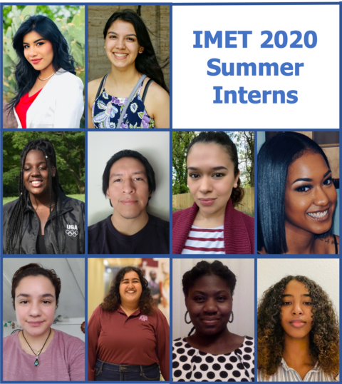 all of the IMET 2020 summer interns