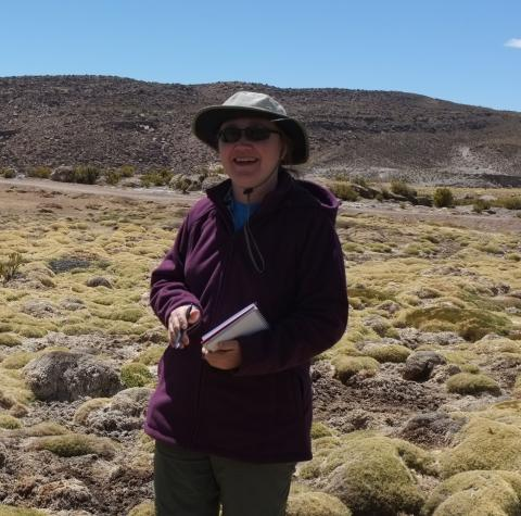 Dr. Claire Jantz in the field