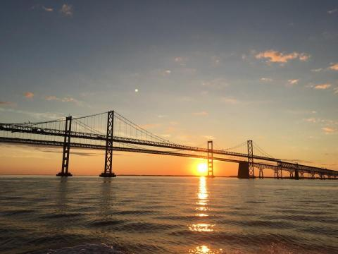 Chesapeake Bay Bridge at SunSet