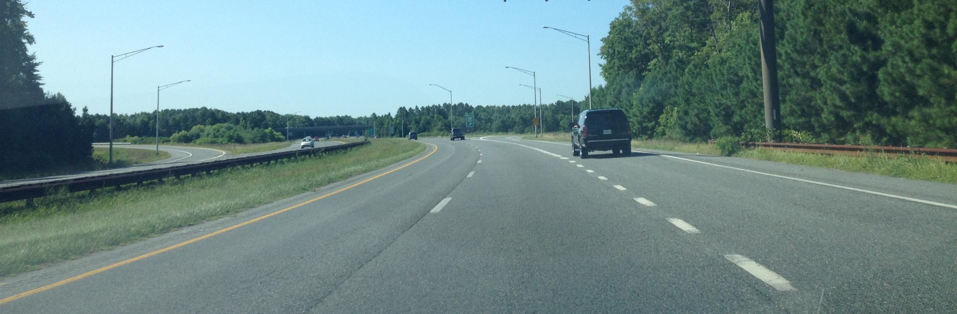 Photo of Maryland Interstate Highway with grassy median