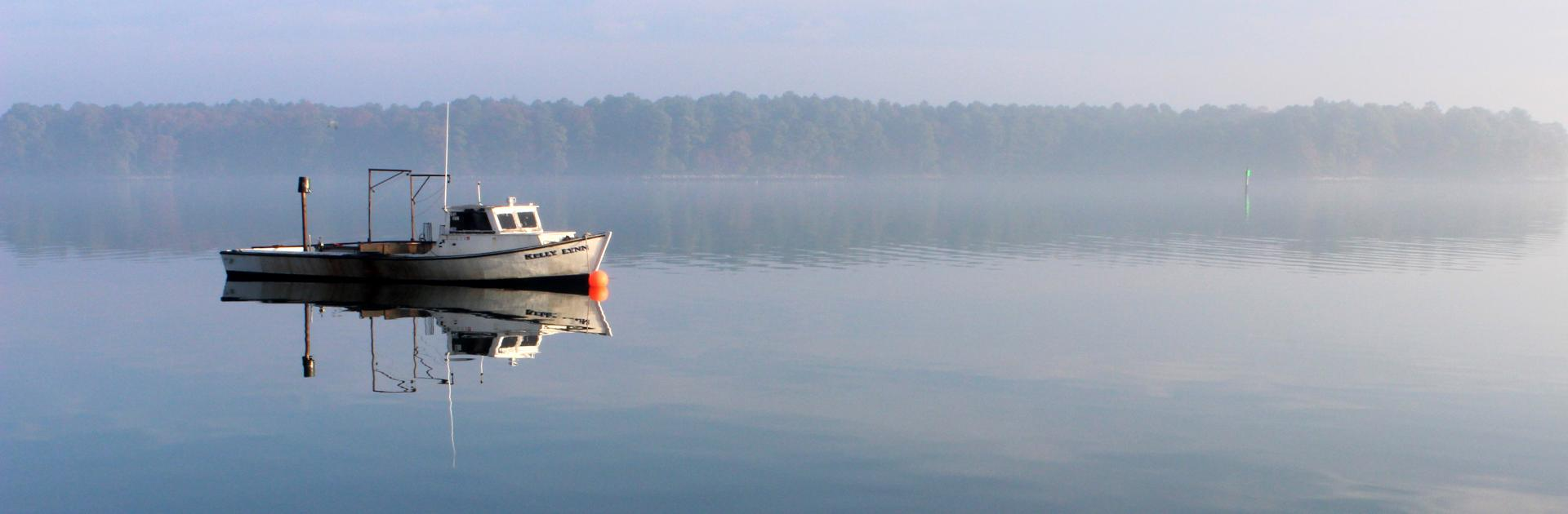Photo of boat on Chesapeake Bay