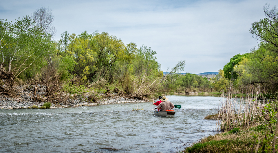 Paddlers on the Verde River