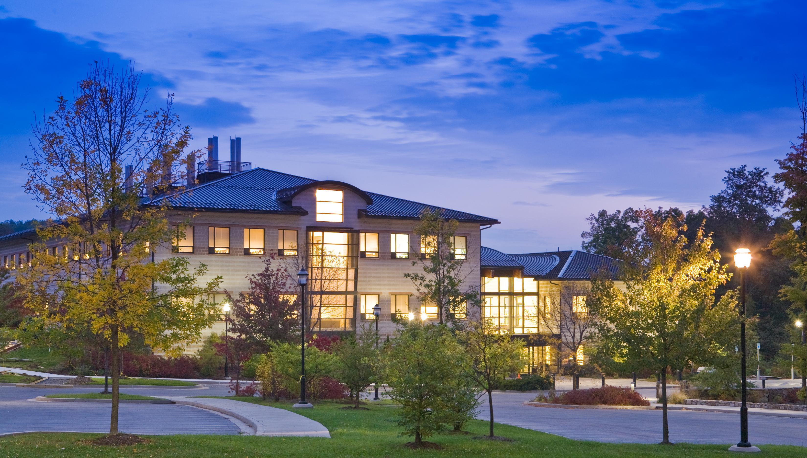 Appalachian Laboratory building at night